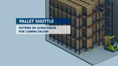Pallet Shuttle: almacenaje compacto semi automático