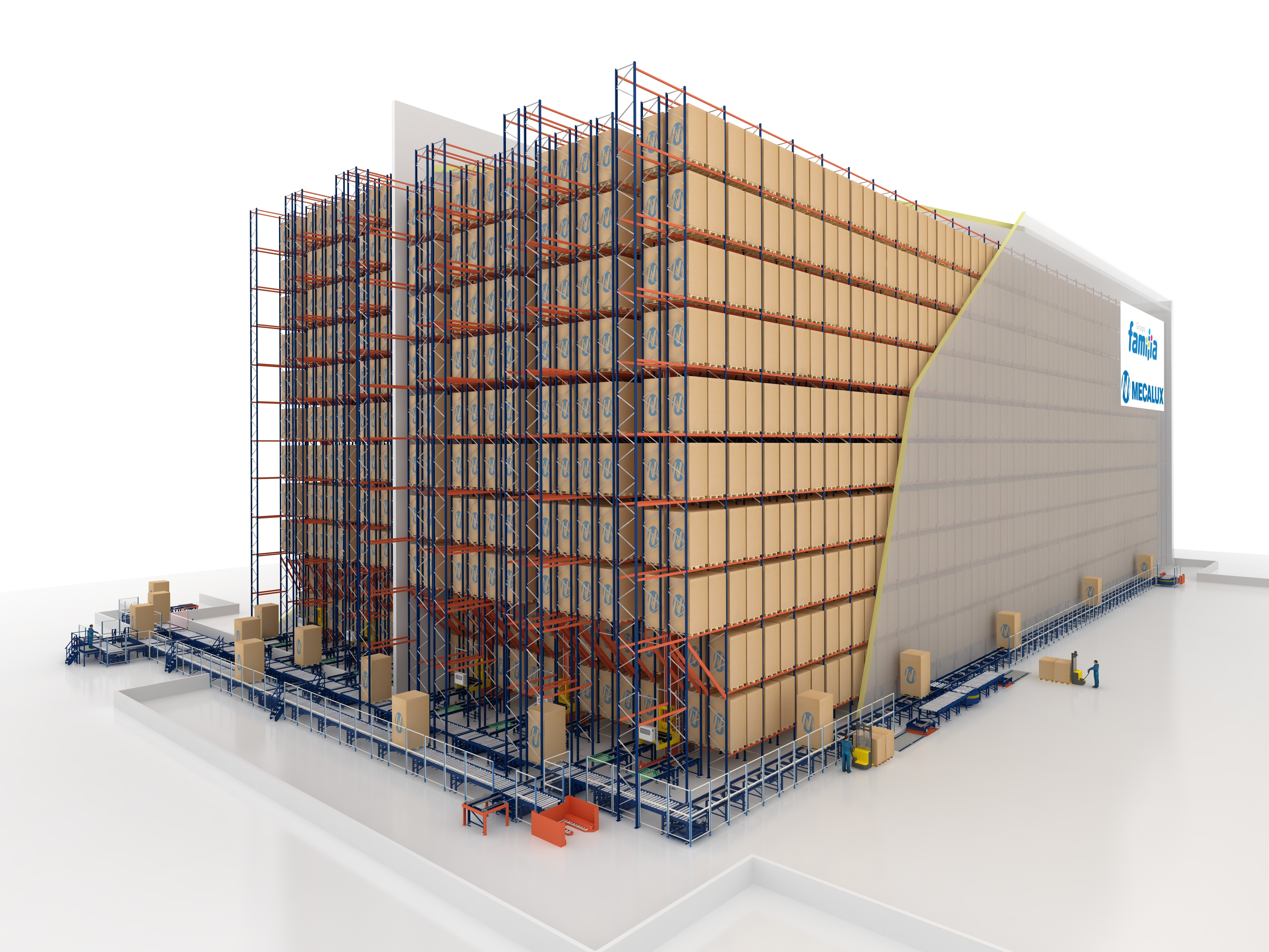 El almacén de Grupo Familia posee una capacidad para alojar 19.000 tarimas