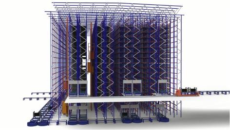 Innovación y tecnología al servicio de la logística de Michelin en su almacén automatizado